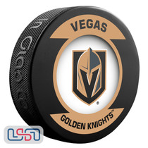 Vegas Golden Knights Official NHL Retro Team Logo Souvenir Hockey Puck