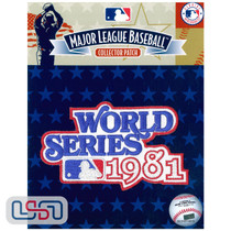 1981 World Series Game MLB Logo Jersey Sleeve Patch Licensed Los Angeles Dodgers