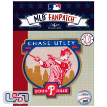 Chase Utley Retirement 2019 MLB Logo Jersey Sleeve Patch Licensed Phillies