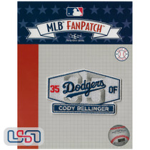 Cody Bellinger Stadium Sign MLB Logo Jersey Sleeve Patch Licensed Dodgers