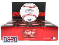 (12) 2019 World Series MLB Rawlings Baseball Washington Nationals Boxed - Dozen