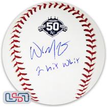 "Whit Merrifield Royals Signed ""2 Hit Whit"" 50th Anniversary Baseball JSA Auth"