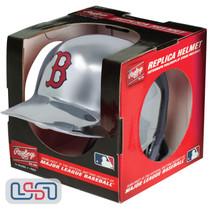 Boston Red Sox Silver Chrome Rawlings Mini MLB Baseball Batting Helmet