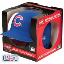 Chicago Cubs Matte Blue Rawlings Mini MLB Baseball Batting Helmett