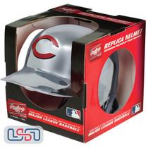 Cincinnati Reds Silver Chrome Rawlings Mini MLB Baseball Batting Helmet
