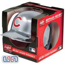 Chicago Cubs Silver Chrome Rawlings Mini MLB Baseball Batting Helmet