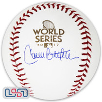 Carlos Beltran Houston Astros Signed 2017 World Series Game Baseball JSA Auth