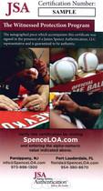 Rose Morgan Perez Bench Signed Reds 150th Anniversary Baseball JSA Auth