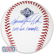 """Howie Kendrick Nationals Signed """"2019 WS Champs"""" 2019 World Series Game Baseball"""
