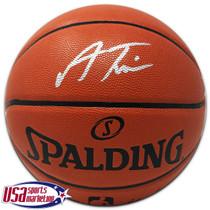 Allonzo Trier Knicks Signed Autographed I/O Spalding Basketball JSA Auth