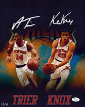 Allonzo Trier Kevin Knox Knicks Signed Autographed 11x14 Photo LE/14 JSA Auth