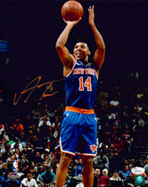 Allonzo Trier New York Knicks Signed Autographed 11x14 Photo JSA Auth #6