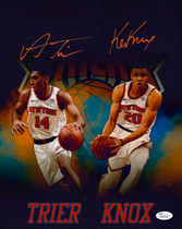 Allonzo Trier Kevin Knox Knicks Signed Autographed 11x14 Photo JSA Auth