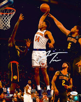 Allonzo Trier New York Knicks Signed Autographed 11x14 Photo JSA Auth #4