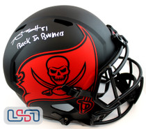 Antonio Brown Signed Buccaneers Full Size Speed Replica Eclipse Helmet JSA Auth