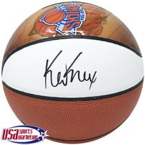 "Kevin Knox Knicks Signed Autographed ""Draft Knight"" Knicks Basketball JSA Auth"