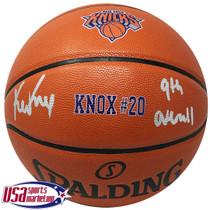 "Kevin Knox Knicks Signed Autographed ""Knox #20"" I/O Spalding Basketball JSA Auth"