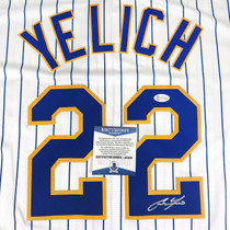 Christian Yelich Signed Authentic White Milwaukee Brewers Jersey BAS Auth #2