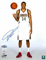 Giannis Antetokounmpo Bucks Autographed 11x14 Photograph Photo JSA Auth #2