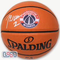 John Wall Signed Autographed Washington Wizards I/O Logo NBA Basketball JSA Auth