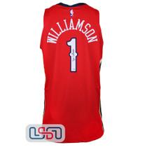 Zion Williamson Signed Authentic Red Pelicans Nike Swingman Jersey Fanatics Auth