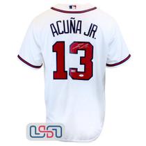 Ronald Acuna Jr. Signed Authentic White Atlanta Braves Majestic Jersey JSA Auth