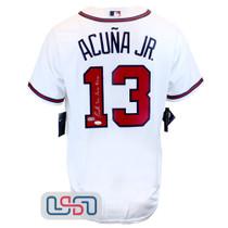 Ronald Acuna Jr. Signed Full Name White Atlanta Braves Majestic Jersey JSA Auth