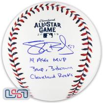"Shane Bieber Indians Signed ""Cleveland Rocks"" 2019 All Star Baseball JSA Auth"