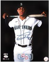 Julio Rodriguez Mariners Signed Autographed 11x14 Photo Photograph JSA Auth