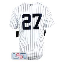 Giancarlo Stanton #27 New York Yankees White Home Pinstripe Men's Nike Jersey NWT