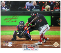 """Howie Kendrick Nationals Signed """"GM 7 2 Run HR"""" 11x14 Photo Photograph JSA Auth"""