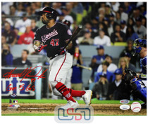 """Howie Kendrick Nationals Signed """"GM 5 GS"""" 11x14 Photo Photograph JSA Auth #2"""