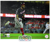 """Howie Kendrick Nationals Signed """"GM 5 GS"""" 11x14 Photo Photograph JSA Auth"""