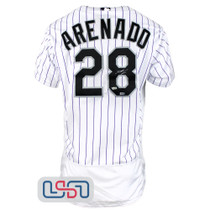 Nolan Arenado Signed On Field Authentic White Rockies Nike Jersey Fanatics Auth