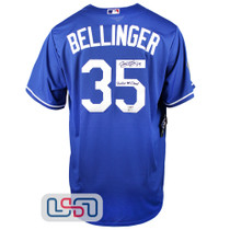 """Cody Bellinger Signed """"WS Champs"""" Blue 2020 WS Dodgers Nike Jersey Fanatics Auth"""