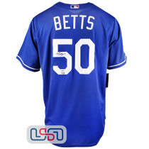Mookie Betts Signed Autographed Blue 2020 WS Dodgers Nike Jersey Fanatics Auth