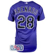 Nolan Arenado Signed On Field Authentic Purple Rockies Nike Jersey Fanatics Auth