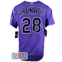 Nolan Arenado Autographed Authentic Purple Rockies Nike Jersey Fanatics Auth