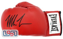 Mike Tyson Signed Autographed Everlast Red Left Hand Boxing Glove Tyson Auth