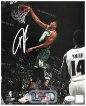 Giannis Antetokounmpo Bucks Autographed Signed 8x10 Photograph Photo JSA Auth #6