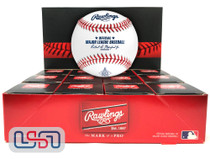 (12) 2021 Los Angeles Angels 60th Anniversary MLB Rawlings Baseball Boxed - Dozen