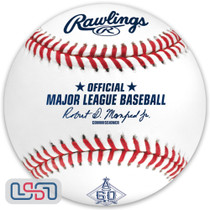 2021 Los Angeles Angels 60th Anniversary Official MLB Rawlings Baseball - Boxed