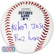 Keibert Ruiz Dodgers Signed Full Name 2018 Futures Game Baseball JSA Auth