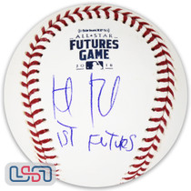 "Keibert Ruiz Dodgers Signed ""1st Futures"" 2018 Futures Game Baseball JSA Auth"