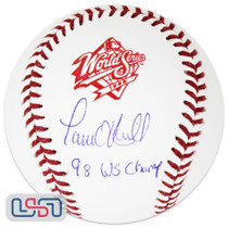 "Paul O'Neill Yankees Signed ""WS Champ"" 1998 World Series Baseball JSA Auth"