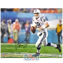 Peyton Manning Colts Signed Autographed 16x20 XLI Photo Photograph Fanatics Auth