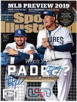 Fernando Tatis Jr. Manny Machado Padres Signed Sports Illustrated BAS JSA Auth