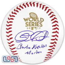 "Charlie ""Freakin"" Morton Astros Signed 2017 World Series Baseball JSA Auth"