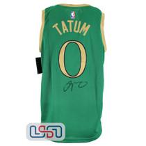 Jayson Tatum Signed Authentic Green Celtics City Edition Jersey Fanatics Auth