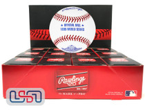 (12) 1995 World Series Official MLB Rawlings Baseball Braves Boxed - Dozen